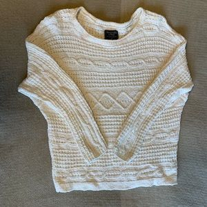 Abercrombie Cream Sweater